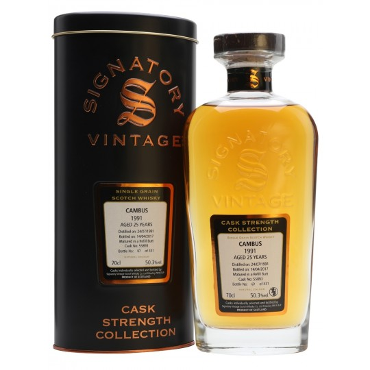 Signatory Vintage 26 ani, Cambus Distillery, Speyside Single Malt Scotch Whisky, Regatul Unit- 70 cl