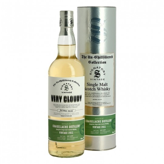 Signatory Vintage 2011, Very Cloudy, Craigellachie Distillery, Speyside Single Malt Scotch Whisky, Regatul Unit- 70 cl
