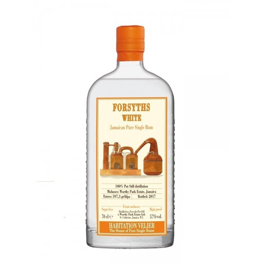 Forsyths White, Pure Single Jamaican Rum, Jamaica - 70 cl