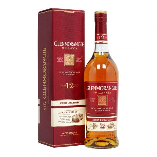 Glenmorangie, The Lasanta 12 ani, Sherry Cask Finish, Highland Single Malt Scotch Whisky, Regatul Unit- 70 cl