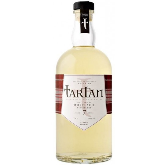 Tartan Mortlach 7 Year Old Single Malt Scotch Whisky, Speyside, Scotland - 70 cl.
