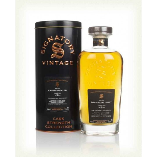 Signatory Vintage 18 ani, Bowmore Distillery, Speyside Single Malt Scotch Whisky, Regatul Unit- 70 cl