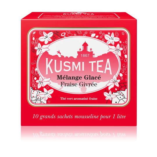Ceai Kusmi Frosted Strawberry Ice Tea - 10 pliculețe