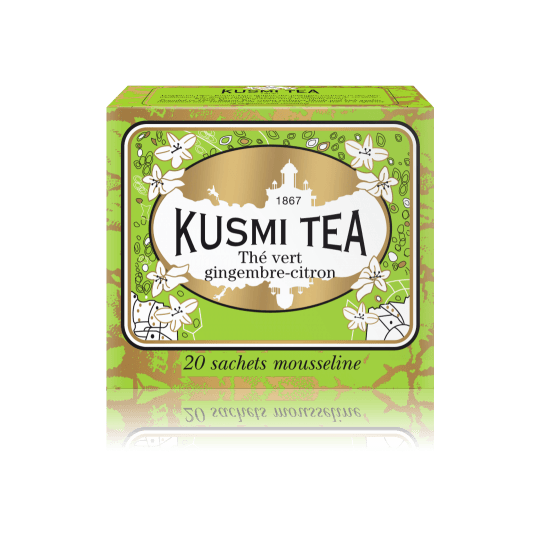 Ceai Kusmi Ginger Lemon Green Tea - 20 pliculeţe